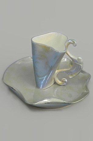 Rudolf Kampf Чашка высокая Dali (0.15 л) с блюдцем 46120414-2006 Rudolf Kampf rudolf kampf чашка чайная dali с блюдцем 46120425 1001 rudolf kampf