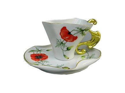 Чашка Dali (0.15 л) с блюдцем 46120425-240Bk Rudolf Kampf чашка с блюдцем страйп розовые 0 2 л