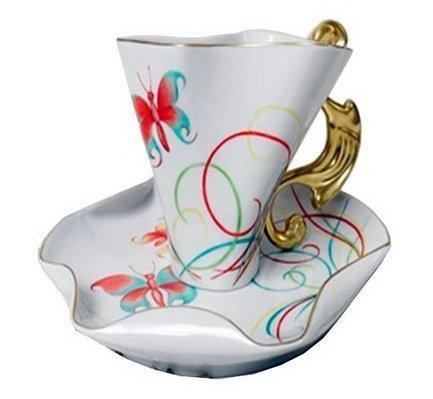 Чашка Dali (0.15 л) с блюдцем 46120425-240Fk Rudolf Kampf чашка чайная dali с блюдцем 46120425 1001 rudolf kampf