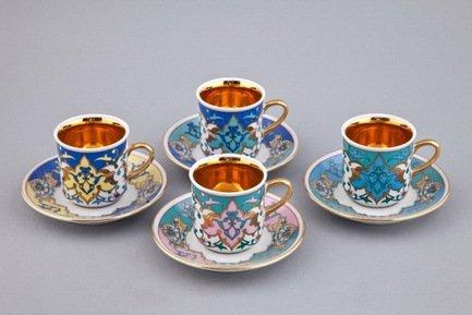 Rudolf Kampf Набор чашек (0.1 л) с блюдцами, 4 шт. 02150413-2011k
