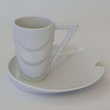 Чашка Manhatten (0.10 л) с блюдцем, белая 64120413-0000k Rudolf Kampf