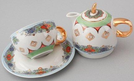 Rudolf Kampf Чайный набор на 1 персону, 3 пр. 42140825-2035k Rudolf Kampf rudolf kampf чашка чайная dali с блюдцем 46120425 1001 rudolf kampf