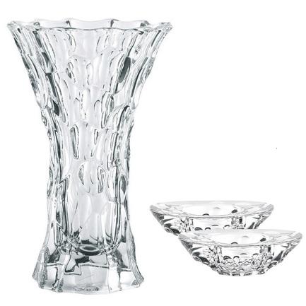 Nachtmann Ваза Sphere с двумя подсвечниками, 28 см 99424 Nachtmann nachtmann ваза slice 28 см 83739 nachtmann