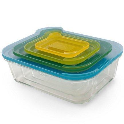 Joseph& Набор контейнеров Nest, стеклянные 81060 &;