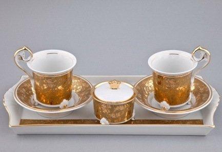 Подарочный набор кофейный Тет-а-тет на 2 персоны, 6 пр. 40140714-D859 Rudolf Kampf кофейный набор на 4 персоны колумбия для двоих