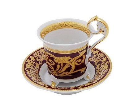 Чашка высокая Tete-a-tete на ножке (0.20 л) с блюдцем 40120435-0592 Rudolf Kampf простыня евро tete a tete tete a tete mp002xu0dyfh