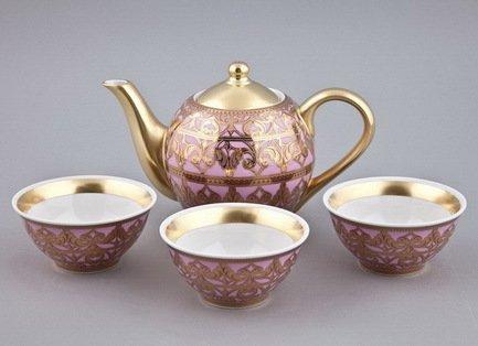 цена Чайный набор Тет-а-тет на 3 персоны, 4 пр. 36140714-2281 Rudolf Kampf онлайн в 2017 году
