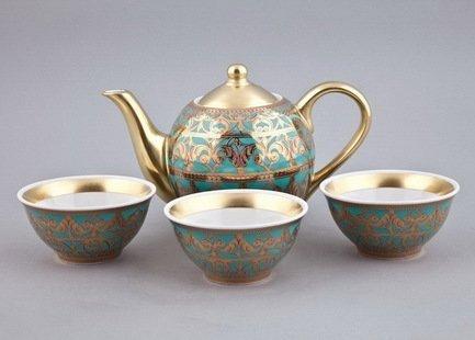 цена Чайный набор Тет-а-тет на 3 персоны, 4 пр. 36140714-2282k Rudolf Kampf онлайн в 2017 году