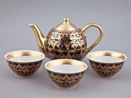 цена Чайный набор Тет-а-тет на 3 персоны, 4 пр. 36140714-2283 Rudolf Kampf онлайн в 2017 году