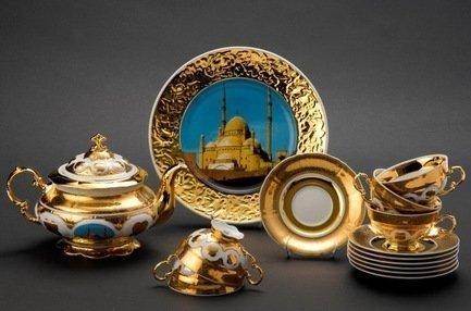 Rudolf Kampf Чайный сервиз на 6 персон Египет, 15 пр. colombo чайный сервиз из 15 предметов на 6 персон флёр c2 ts 15 3701al