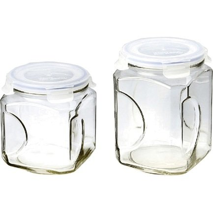 Glasslock Набор контейнеров для сыпучих, 2 пр. IG-671 Glasslock набор контейнеров для сыпучих продуктов glasslock 3 шт ig 674