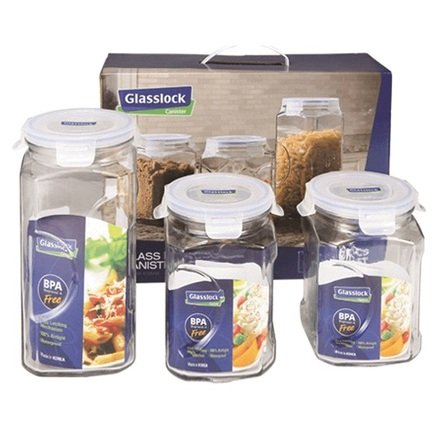 Фото - Набор контейнеров, 3 пр. IG-535 Glasslock набор чаш glasslock gl 532