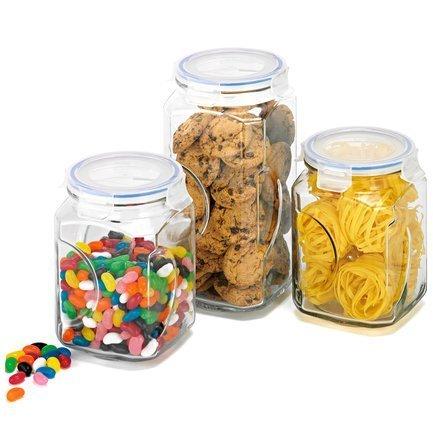 Glasslock Набор контейнеров, 3 пр. IG-534 Glasslock набор контейнеров для сыпучих продуктов glasslock 3 шт ig 674