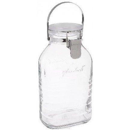 Glasslock Банка для хранения солений, ягод, варенья (2 л), 13.4х9.7х24.5 см glasslock контейнер 2 2 л 30 8x18 5x6 2 см прямоугольный