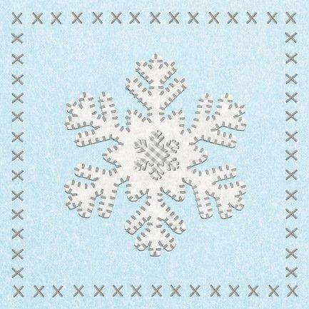 Paperproducts Design Салфетки Felt Snowflake бумажные, 16.5х16.5 см, 20 шт. paperproducts design