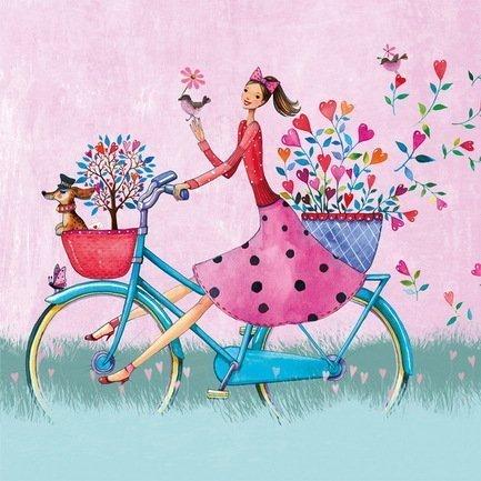 Paperproducts Design Салфетки Weekend on Bike бумажные, 16.5х16.5 см, 20 шт. paperproducts design
