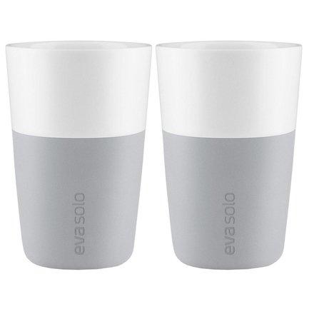 Чашки для латте (360 мл), 8.5x12.5 см, серые, 2 шт. 501046 Eva Solo