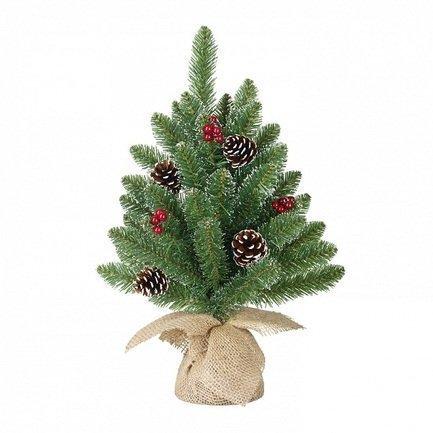 где купить Triumph Tree Ель Кристина, ягоды/шишки, 45 см, в мешочке, зеленая 74326 Triumph Tree дешево