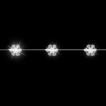 Гирлянда декоративная Снежинка, теплый свет, 20 лампочек, 190 см, медный провод 83161 Luca lights
