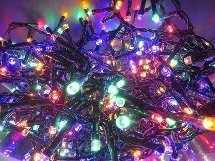 Световая гирлянда, мультиколор, 8 функций, 800 лампочек, 1600 см 83082 Triumph Tree световая гирлянда теплый свет 8 функций 700 лампочек 1400 см 83076 triumph tree