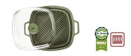 Risoli Литая пароварка-гриль со стеклянной крышкой Dr.Green Induction, 26x26 см