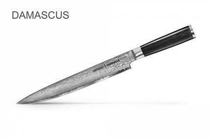Нож для нарезки Damascus, 23 см SD-0045/K Samura нож кухонный для нарезки samura damascus sd 0045 y сталь vg 10 дамаск рукоять стеклотекстолит