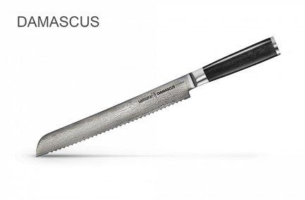 Samura Нож для хлеба Damascus, 23 см SD-0055/K Samura samura нож универсальный shadow 12 см sh 0021 16 samura