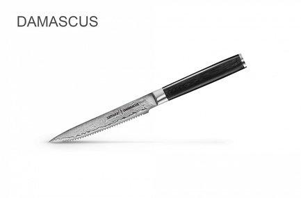 samura нож шеф damascus 20 см Samura Нож для томатов Damascus, 12 см SD-0071/K Samura