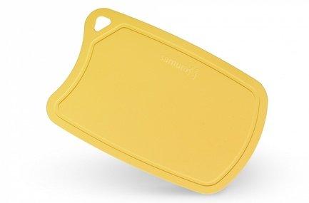 Samura Доска термопластиковая, 38х25х0.2 см, желтая SF-02Y/K Samura доска разделочная samura fusion yellow sf 02y