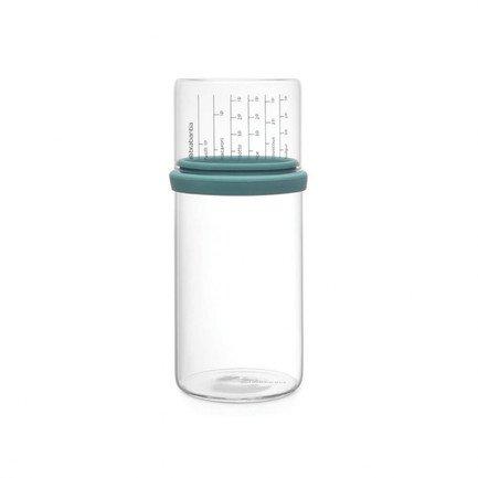 Brabantia Стеклянная банка (1 л), с мерным стаканом, 22х10.2 см 290244 Brabantia банка стеклянная