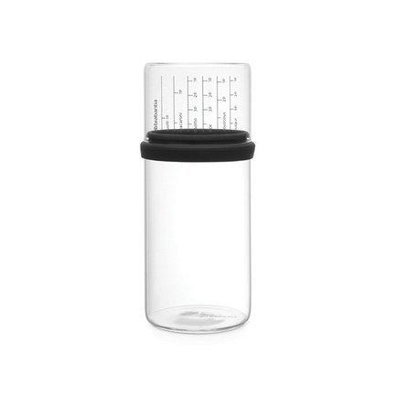 Brabantia Стеклянная банка (1 л), с мерным стаканом, 22х10.2 см 290282 Brabantia банка стеклянная