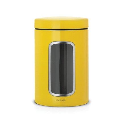 Brabantia Контейнер для сыпучих продуктов (1.4 л), с окном, 17.5х11 см 486043 Brabantia brabantia набор контейнеров с окном 1 4 л матовые стальные 3 шт 335341 brabantia