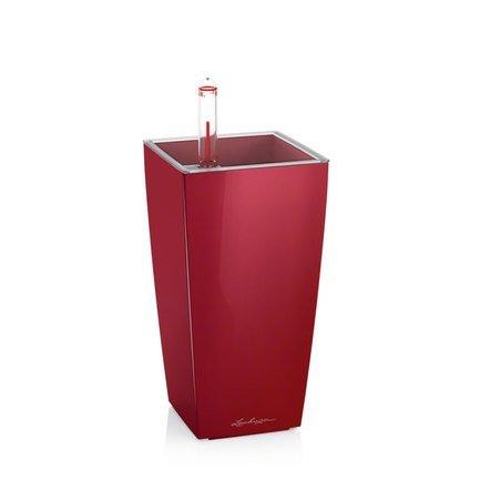 Lechuza Кашпо Мини-Куби, 9х9х18 см, красное, с автополивом и горшком 18121 Lechuza