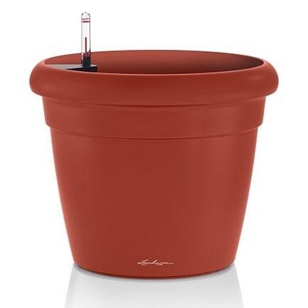 Кашпо Рустико Колор 21, красное, с системой полива, 21х20 см 15187 Lechuza