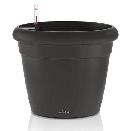 Lechuza Кашпо Рустико Колор 35, черное, с системой полива, 35х32 см 15313 Lechuza green garden кашпо teak s