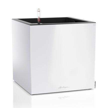 Lechuza Кашпо Канто, куб, 40 см, белое, с системой полива 13750 Lechuza