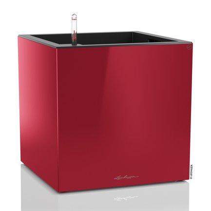 Lechuza Кашпо Канто, куб, 40 см, красное, с системой полива 13756 Lechuza