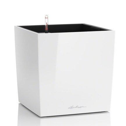 Кашпо Кьюб 50, белое, с системой полива 16560 Lechuza