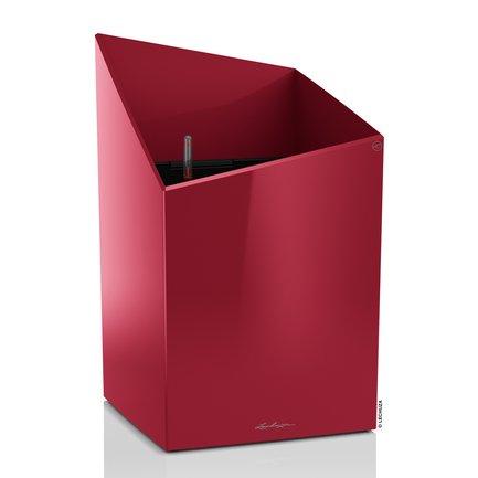 Кашпо Курсиво 30, красное, с системой полива, 30х30х48 см 16605 Lechuza lechuza кашпо кубико 30 черное с системой полива 18186 lechuza