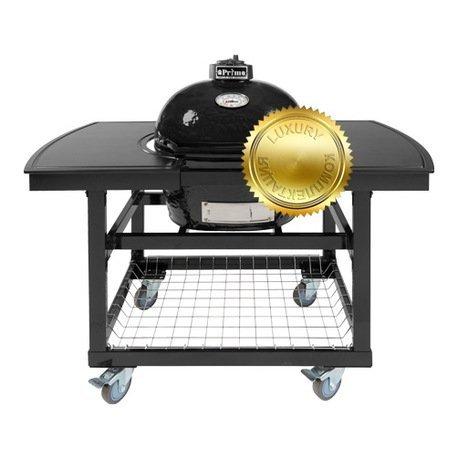 Гриль угольный Oval Junior Luxury, на столе-тележке 774C2L Primo