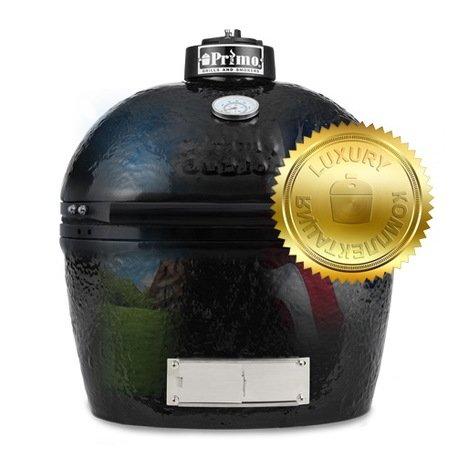 Primo Гриль угольный Oval Junior Luxury, 55х54х41 см 774L Primo гриль угольный с плоской крышкой 49 см