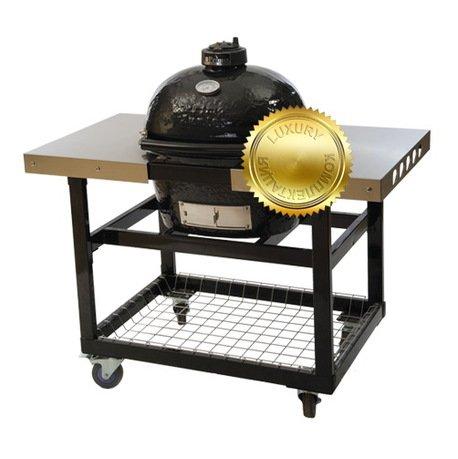 Гриль угольный Oval Junior Luxury, на столе-тележке 774SL Primo