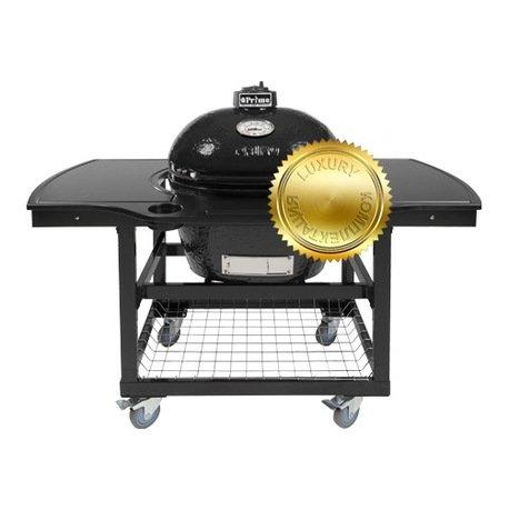 Primo Гриль угольный Oval Large Luxury, на столе-тележке, 62х60х48 см 775CL Primo гриль угольный с плоской крышкой 49 см