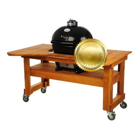 Гриль угольный Oval Large Luxury, на дубовом столе 775DL Primo грамота лис знаю правила дорожного движения тиснение фольгой 21 х 29 см 43299