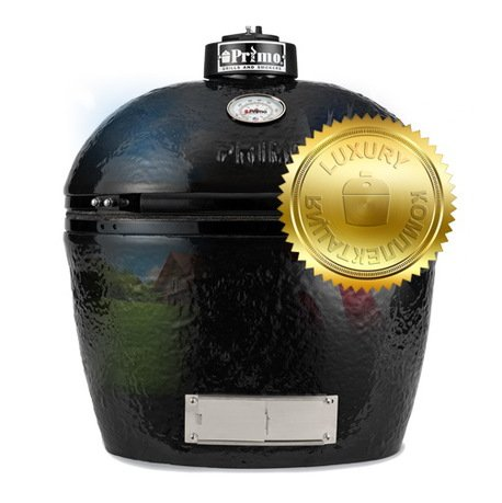 Primo Гриль угольный Oval Large Luxury, 64х61х47 см 775L Primo гриль угольный с плоской крышкой 49 см