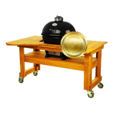 Primo Гриль угольный Oval Large Luxury, на столе из 775PL Primo
