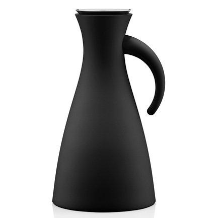 Фото - Термокувшин Vacuum (1 л), высокий, черный, 15.5x29 см 502801 Eva Solo термокувшин eva solo vacuum цвет серый металлик 1 л 502932