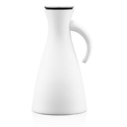 Фото - Термокувшин Vacuum (1 л), высокий, белый, 15.5x29 см 502802 Eva Solo термокувшин eva solo vacuum цвет серый металлик 1 л 502932