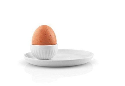 Eva Solo Подставка для яйца Legio Nova, 12.5х10.5х3.5 см, белая 887275 Eva Solo eva solo чайник заварочный в неопреновом чехле 1 л черный 567489 eva solo