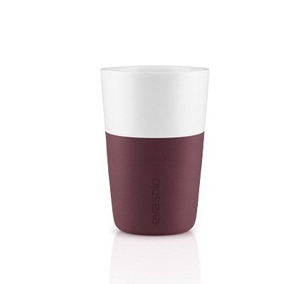 Eva Solo Чашки для латте (360 мл), 8.5x12.5 см, бургунди, 2 шт.